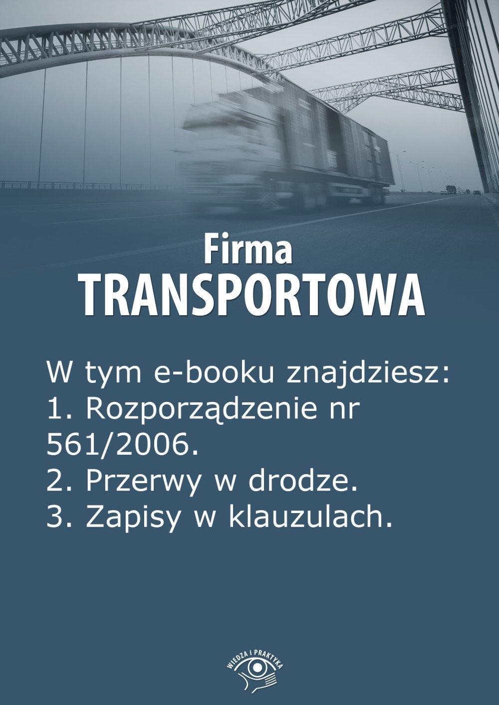 Firma transportowa. Wydanie maj 2014 r. - Ebook (Książka EPUB) do pobrania w formacie EPUB