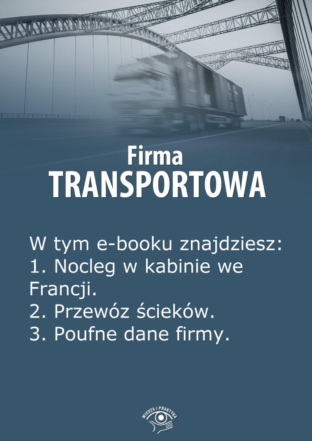 Firma transportowa. Wydanie czerwiec 2014 r. - Ebook (Książka EPUB) do pobrania w formacie EPUB
