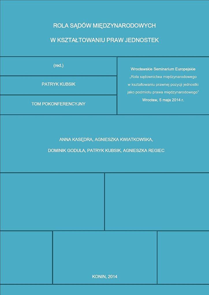 Rola sądów międzynarodowych w kształtowaniu praw jednostek - Ebook (Książka EPUB) do pobrania w formacie EPUB