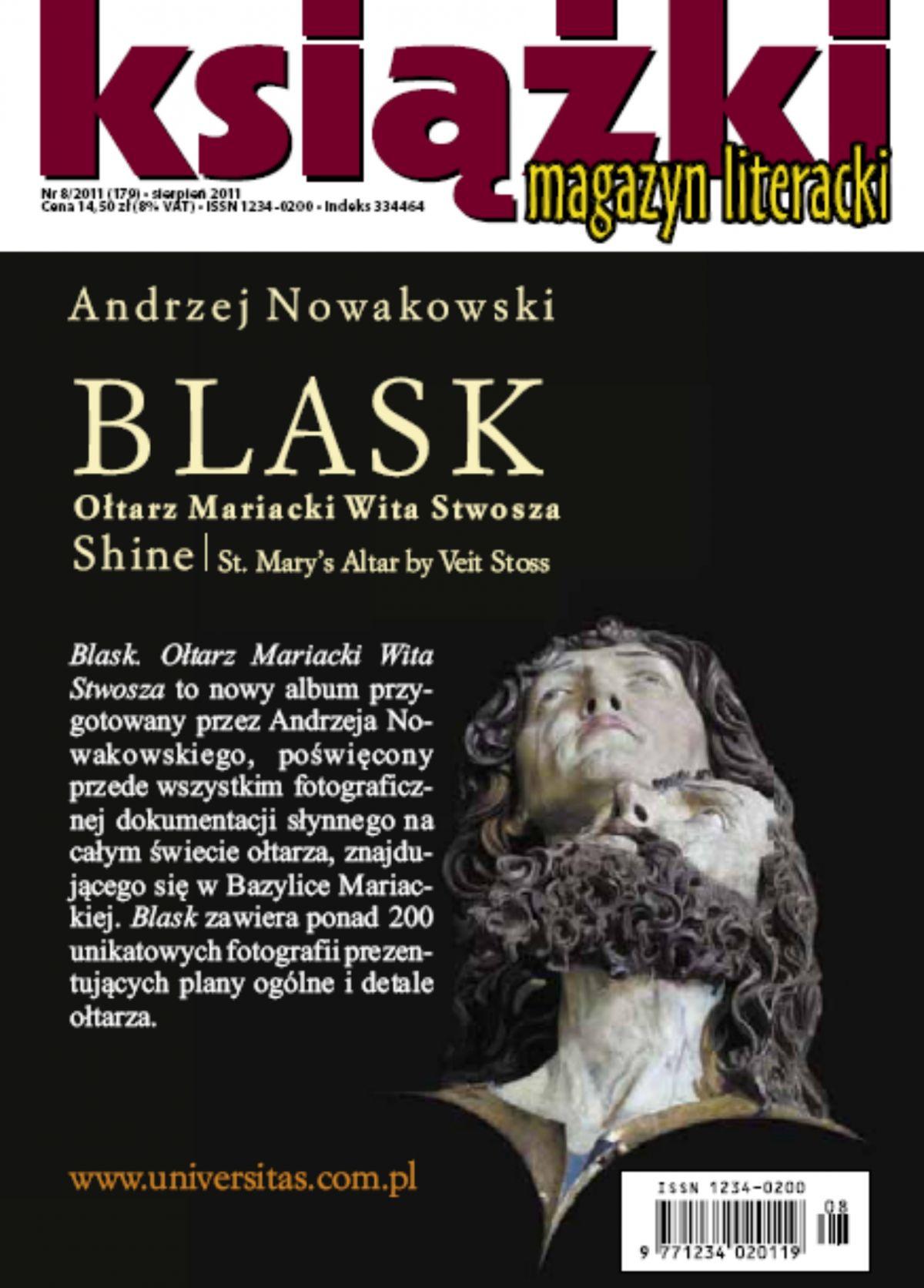 Magazyn Literacki KSIĄŻKI - nr 8/2011 (179) - Ebook (Książka PDF) do pobrania w formacie PDF