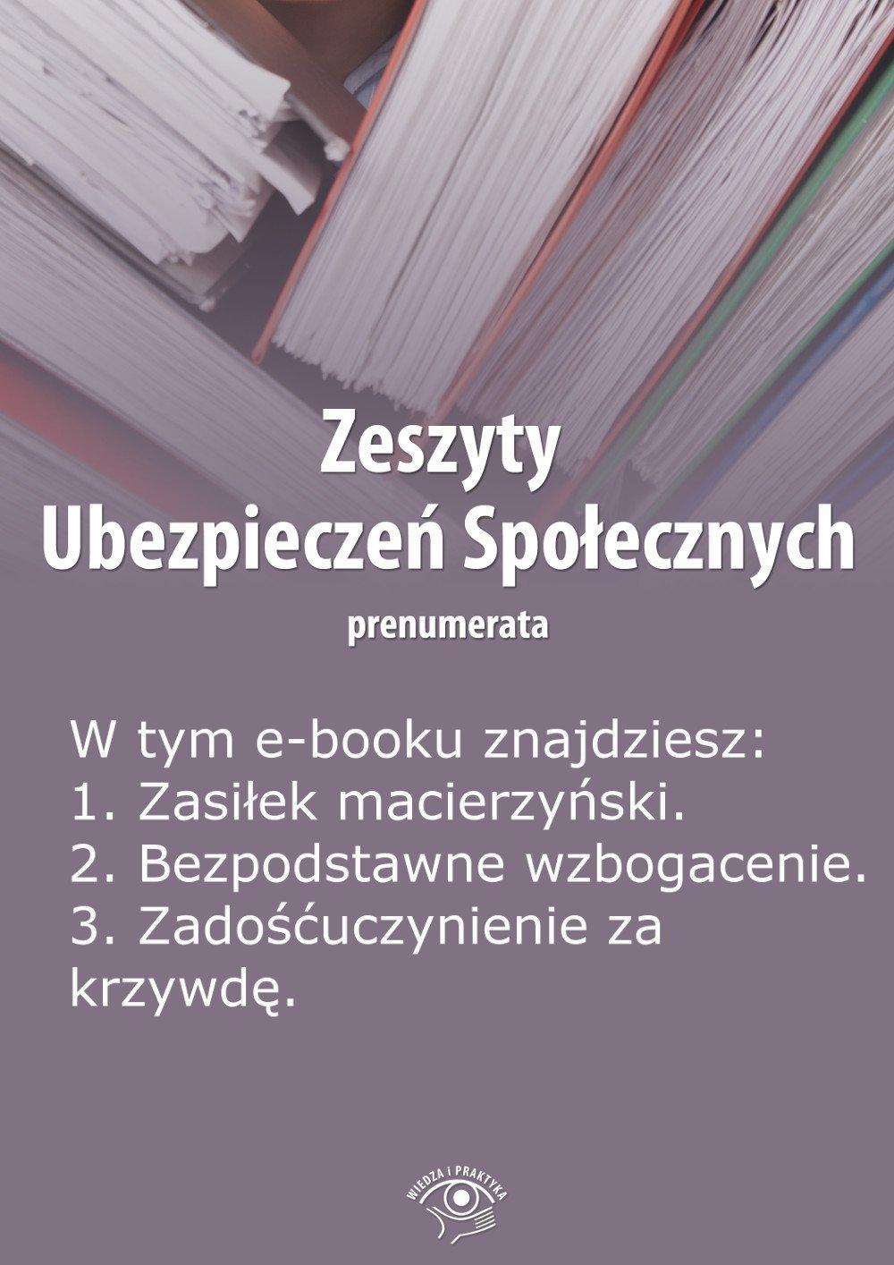 Zeszyty Ubezpieczeń Społecznych. Wydanie luty 2014 r. - Ebook (Książka EPUB) do pobrania w formacie EPUB