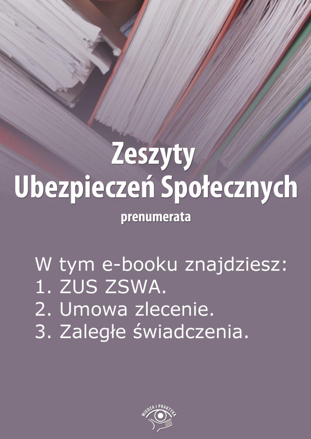 Zeszyty Ubezpieczeń Społecznych. Wydanie marzec 2014 r. - Ebook (Książka EPUB) do pobrania w formacie EPUB
