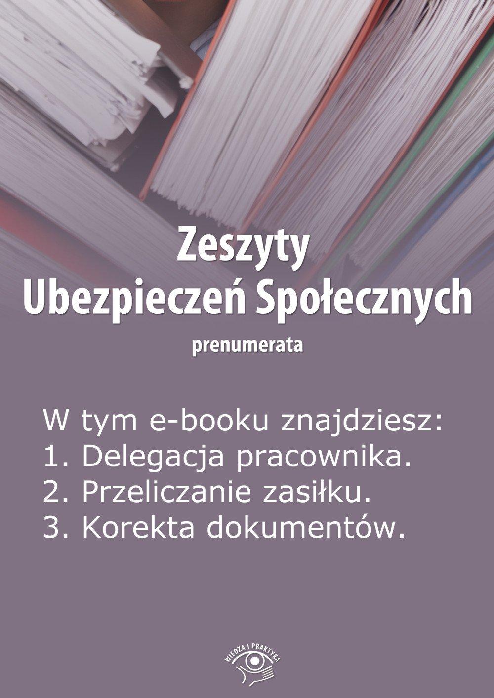 Zeszyty Ubezpieczeń Społecznych. Wydanie kwiecień 2014 r. - Ebook (Książka PDF) do pobrania w formacie PDF