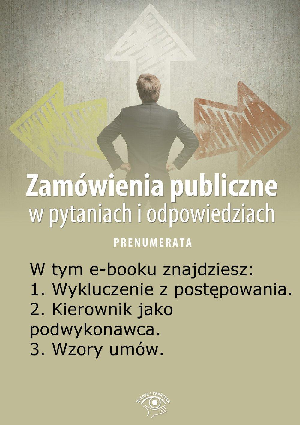 Zamówienia publiczne w pytaniach i odpowiedziach. Wydanie specjalne kwiecień 2014 r. - Ebook (Książka EPUB) do pobrania w formacie EPUB