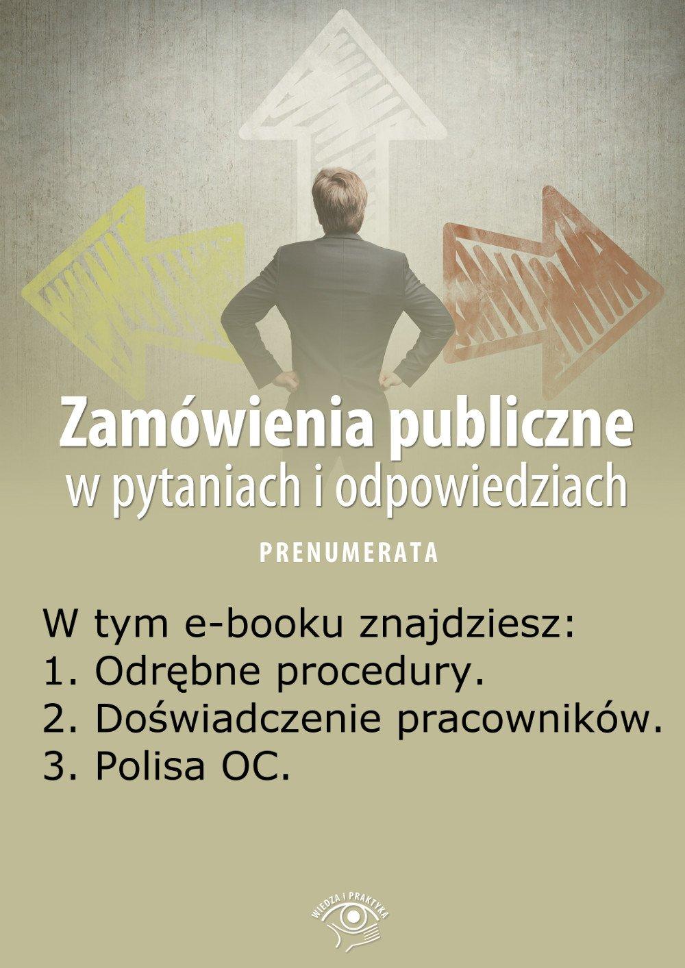 Zamówienia publiczne w pytaniach i odpowiedziach. Wydanie maj 2014 r. - Ebook (Książka EPUB) do pobrania w formacie EPUB