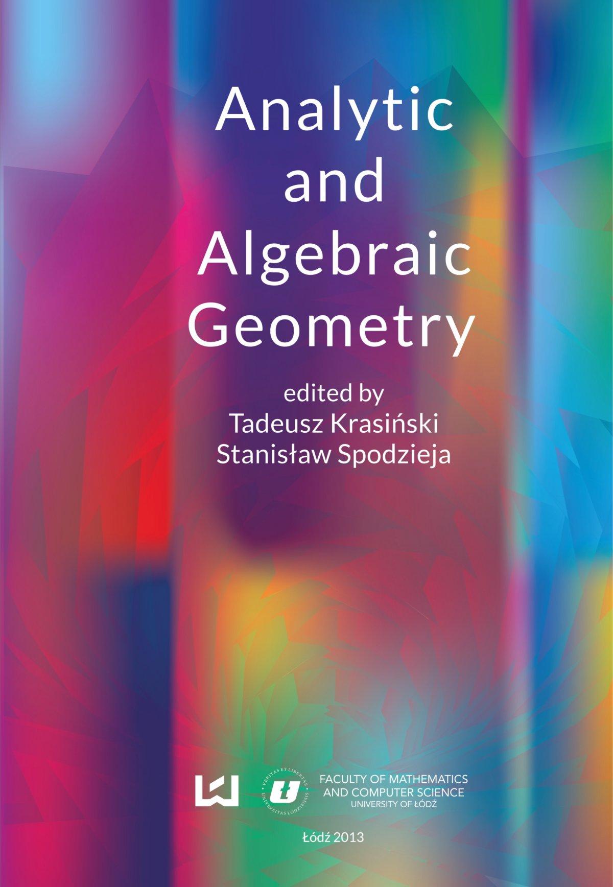 Analytic and Algebraic Geometry - Ebook (Książka PDF) do pobrania w formacie PDF