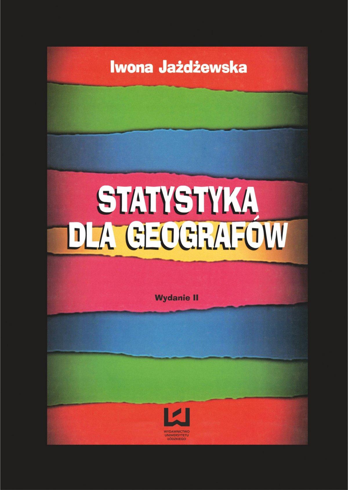 Statystyka dla geografów - Ebook (Książka PDF) do pobrania w formacie PDF