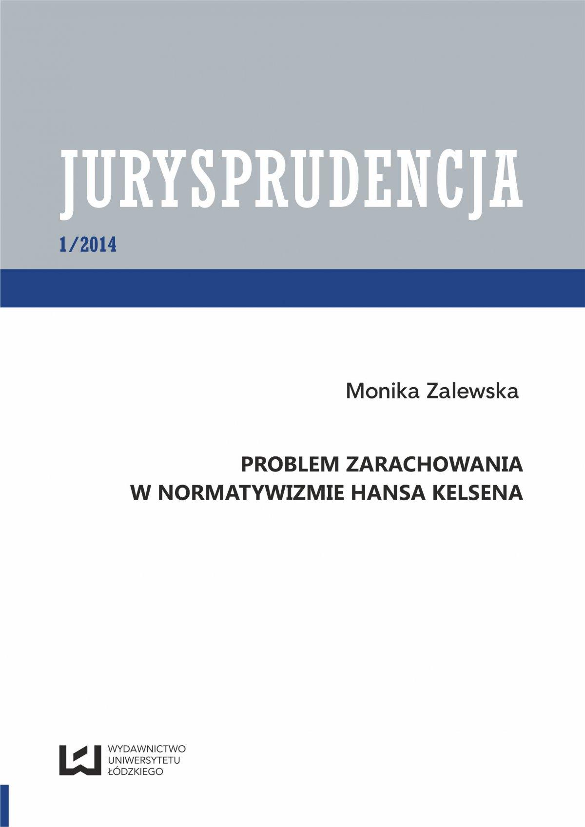 Problem zarachowania w normatywizmie Hansa Kelsena.  Jurysprudencja 1 - Ebook (Książka PDF) do pobrania w formacie PDF
