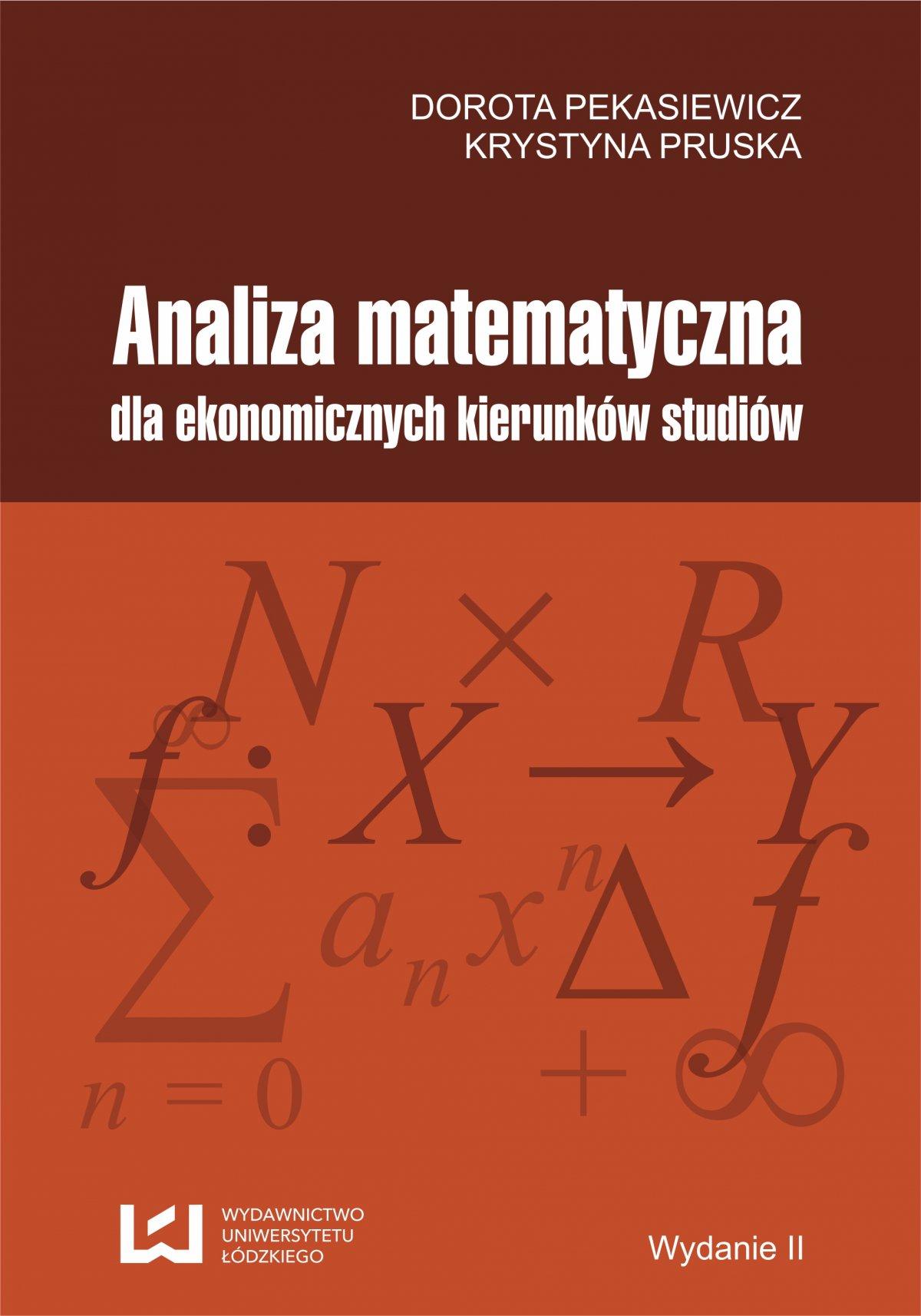 Analiza matematyczna dla ekonomicznych kierunków studiów - Ebook (Książka PDF) do pobrania w formacie PDF