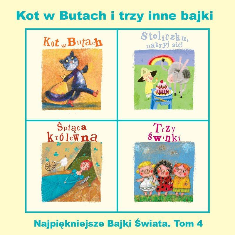 Kot w Butach i trzy inne bajki - Audiobook (Książka audio MP3) do pobrania w całości w archiwum ZIP