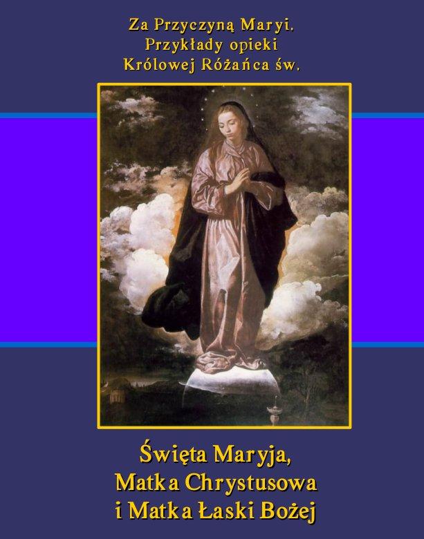 Za Przyczyną Maryi. Przykłady opieki Królowej Różańca św. Święta Maryja, Matka Chrystusowa i Matka Łaski Bożej - Ebook (Książka EPUB) do pobrania w formacie EPUB