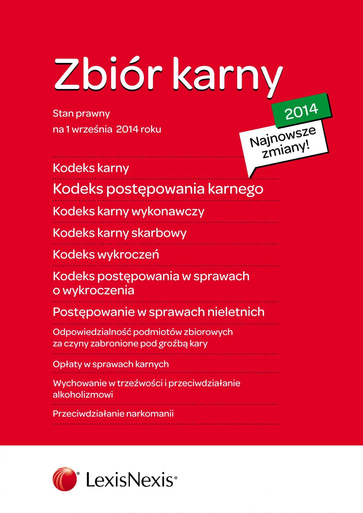 Zbiór karny 2014. Wydanie 4 - Ebook (Książka EPUB) do pobrania w formacie EPUB