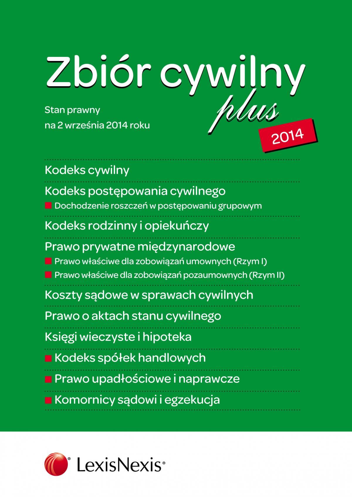 Zbiór cywilny PLUS 2014. Wydanie 3 - Ebook (Książka EPUB) do pobrania w formacie EPUB