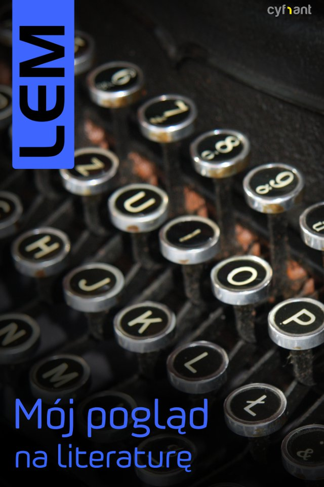 Mój pogląd na literaturę - Ebook (Książka EPUB) do pobrania w formacie EPUB
