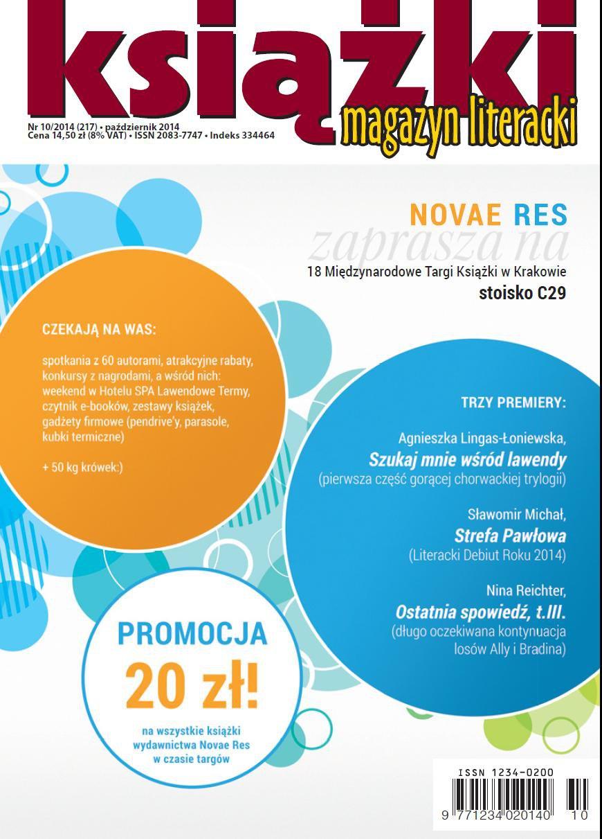 Magazyn Literacki KSIĄŻKI 10/2014 - Ebook (Książka PDF) do pobrania w formacie PDF