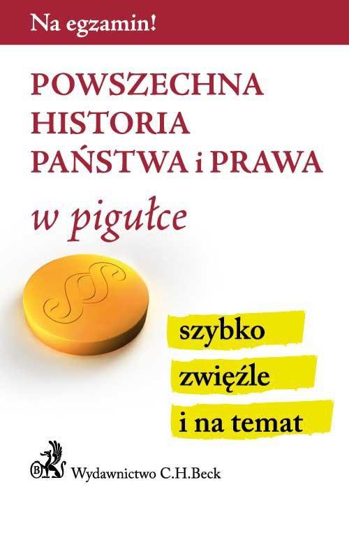Powszechna historia państwa i prawa w pigułce - Ebook (Książka PDF) do pobrania w formacie PDF