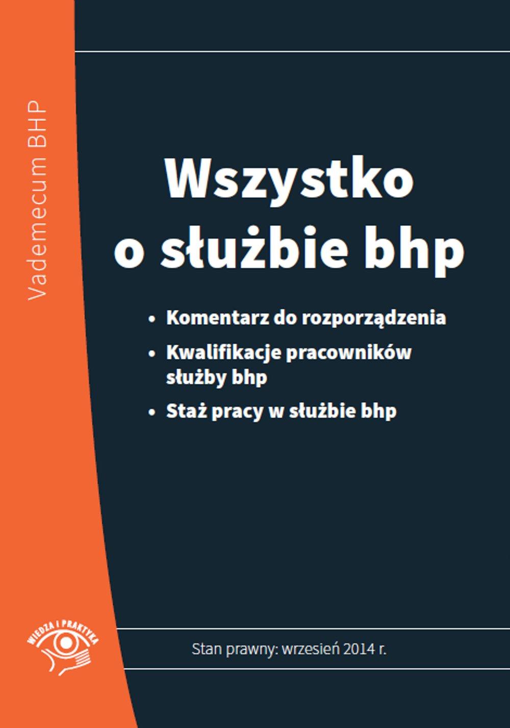 Wszystko o służbie bhp - Ebook (Książka PDF) do pobrania w formacie PDF