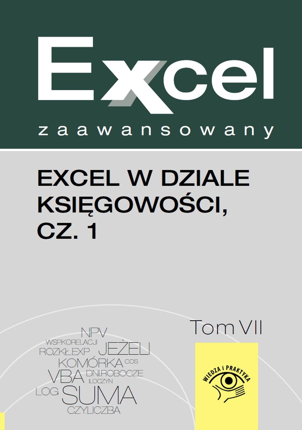 Excel w dziale księgowości. Część 1 - Ebook (Książka PDF) do pobrania w formacie PDF