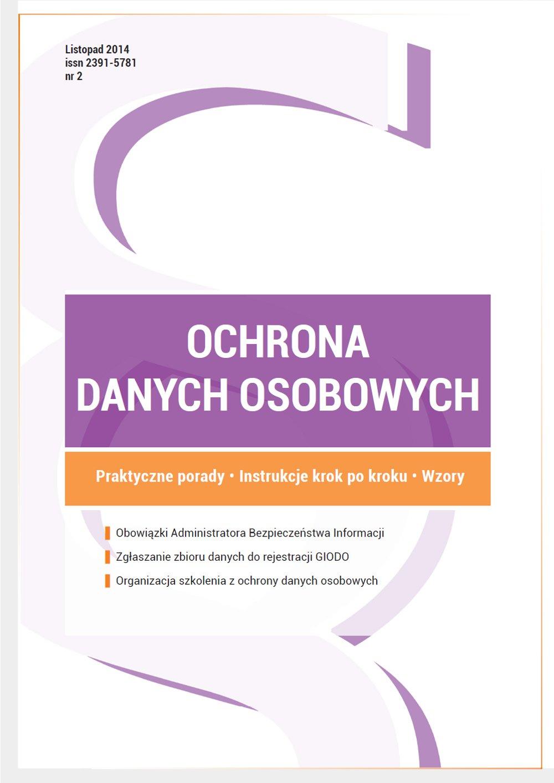 Ochrona danych osobowych - wydanie listopad 2014 r. - Ebook (Książka PDF) do pobrania w formacie PDF