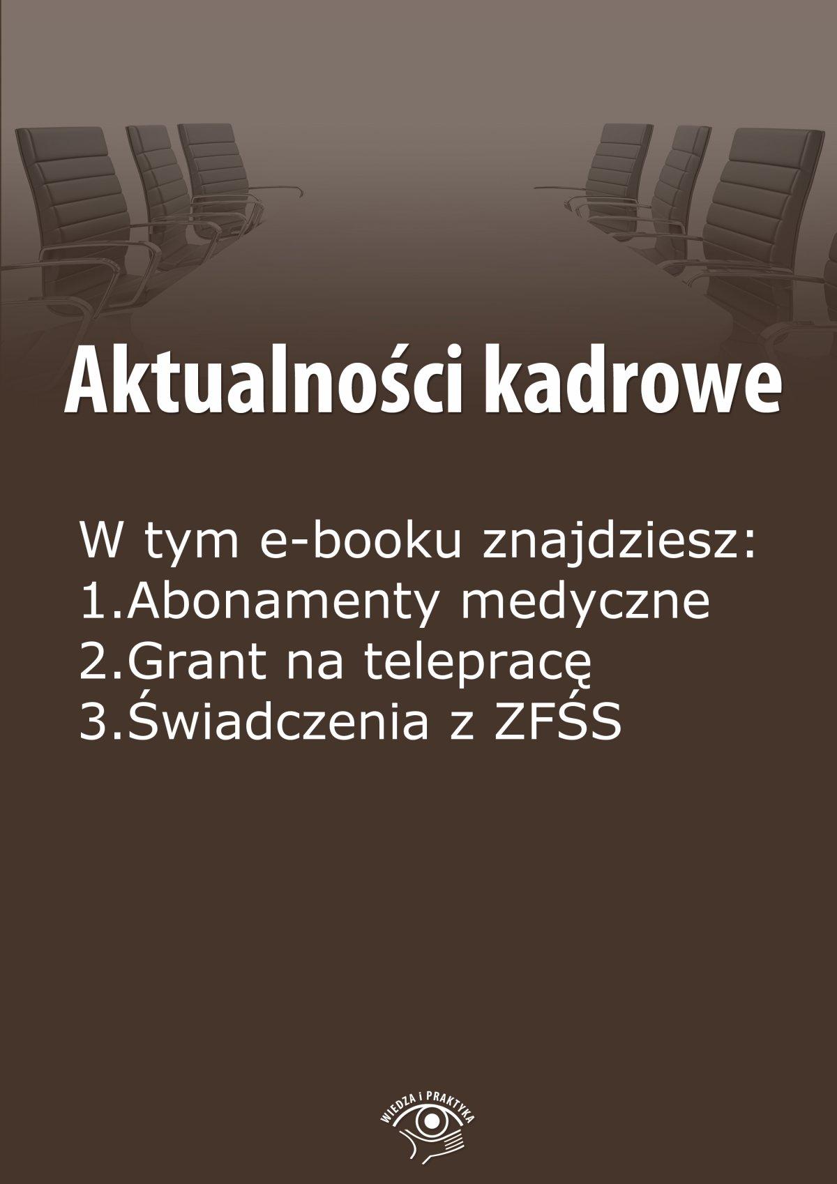 Aktualności kadrowe, wydanie sierpień 2014 r. - Ebook (Książka EPUB) do pobrania w formacie EPUB