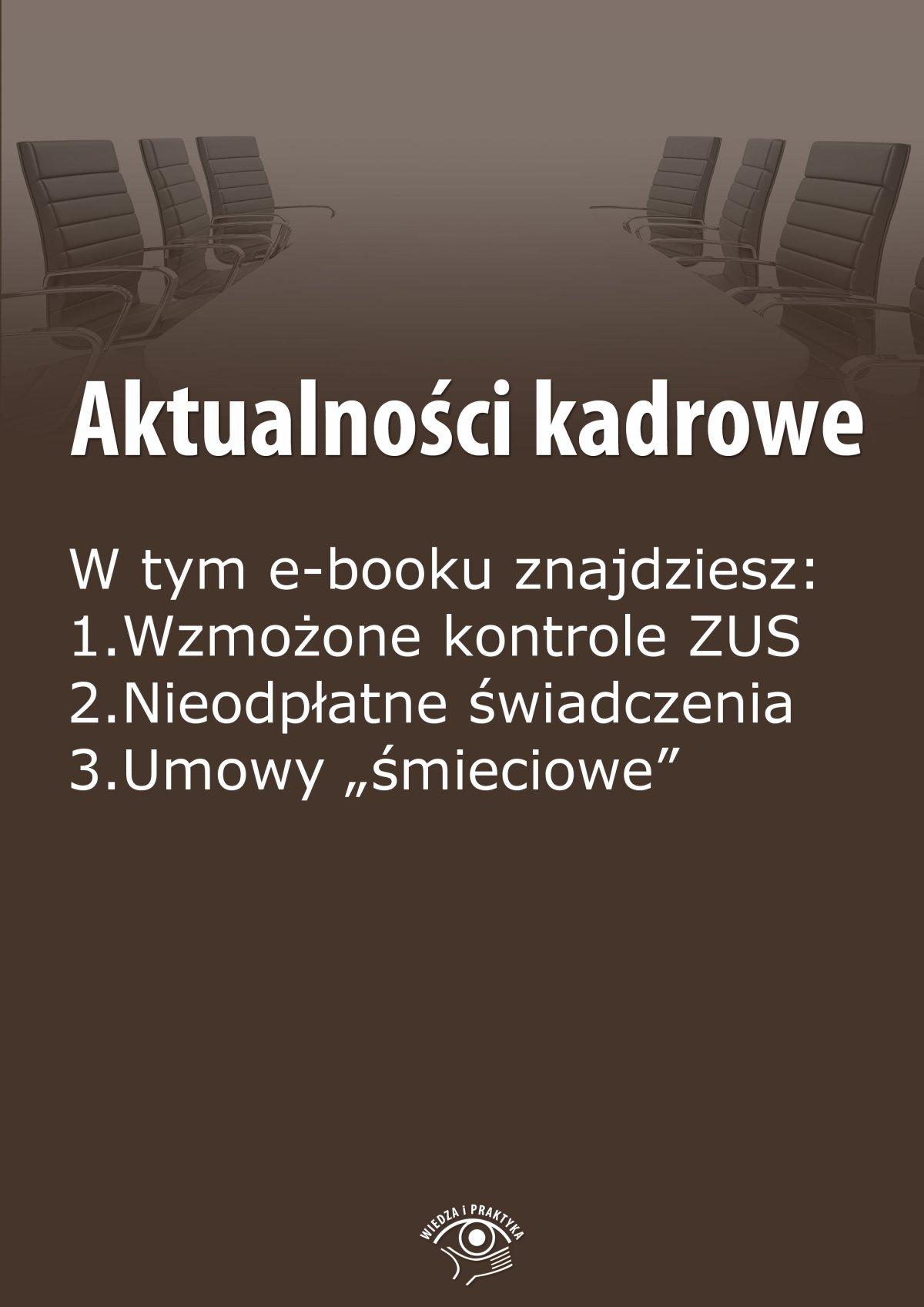 Aktualności kadrowe, wydanie wrzesień 2014 r. - Ebook (Książka EPUB) do pobrania w formacie EPUB