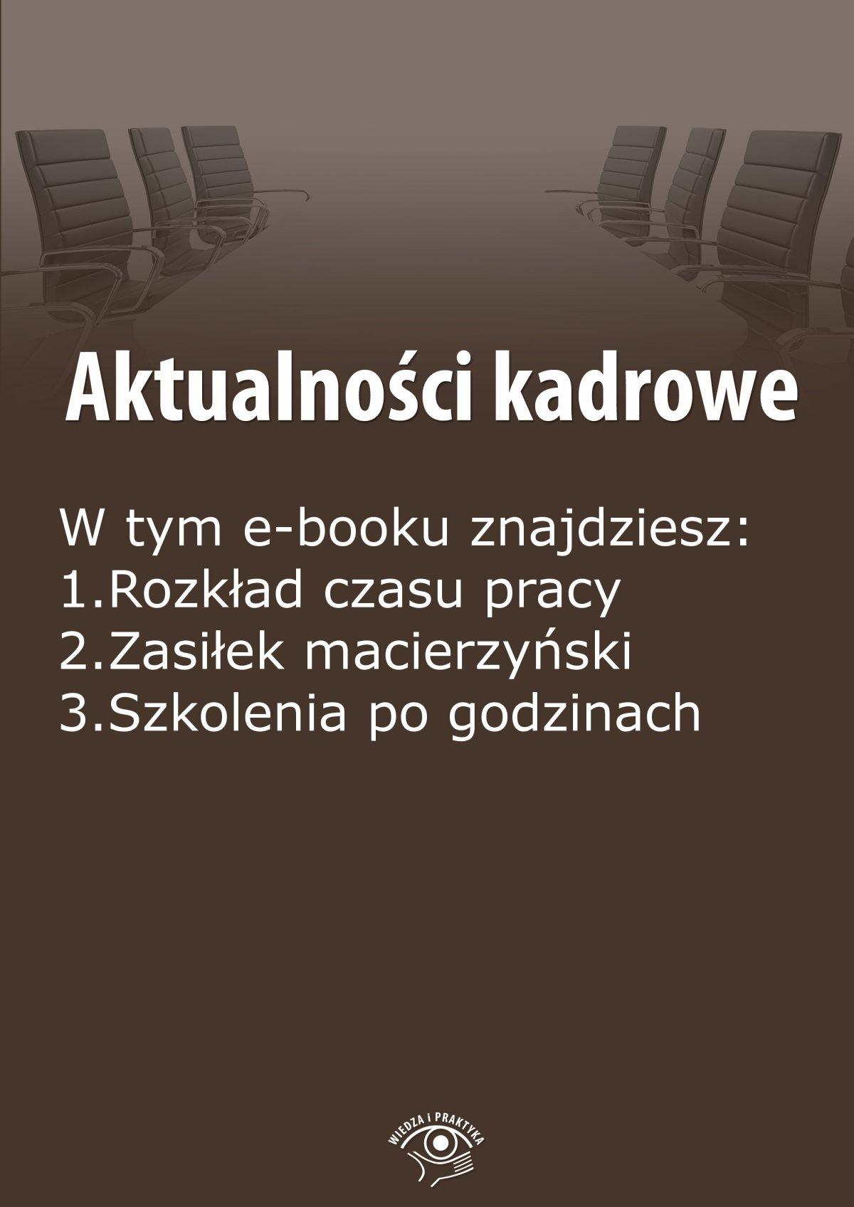 Aktualności kadrowe, wydanie październik 2014 r. - Ebook (Książka EPUB) do pobrania w formacie EPUB