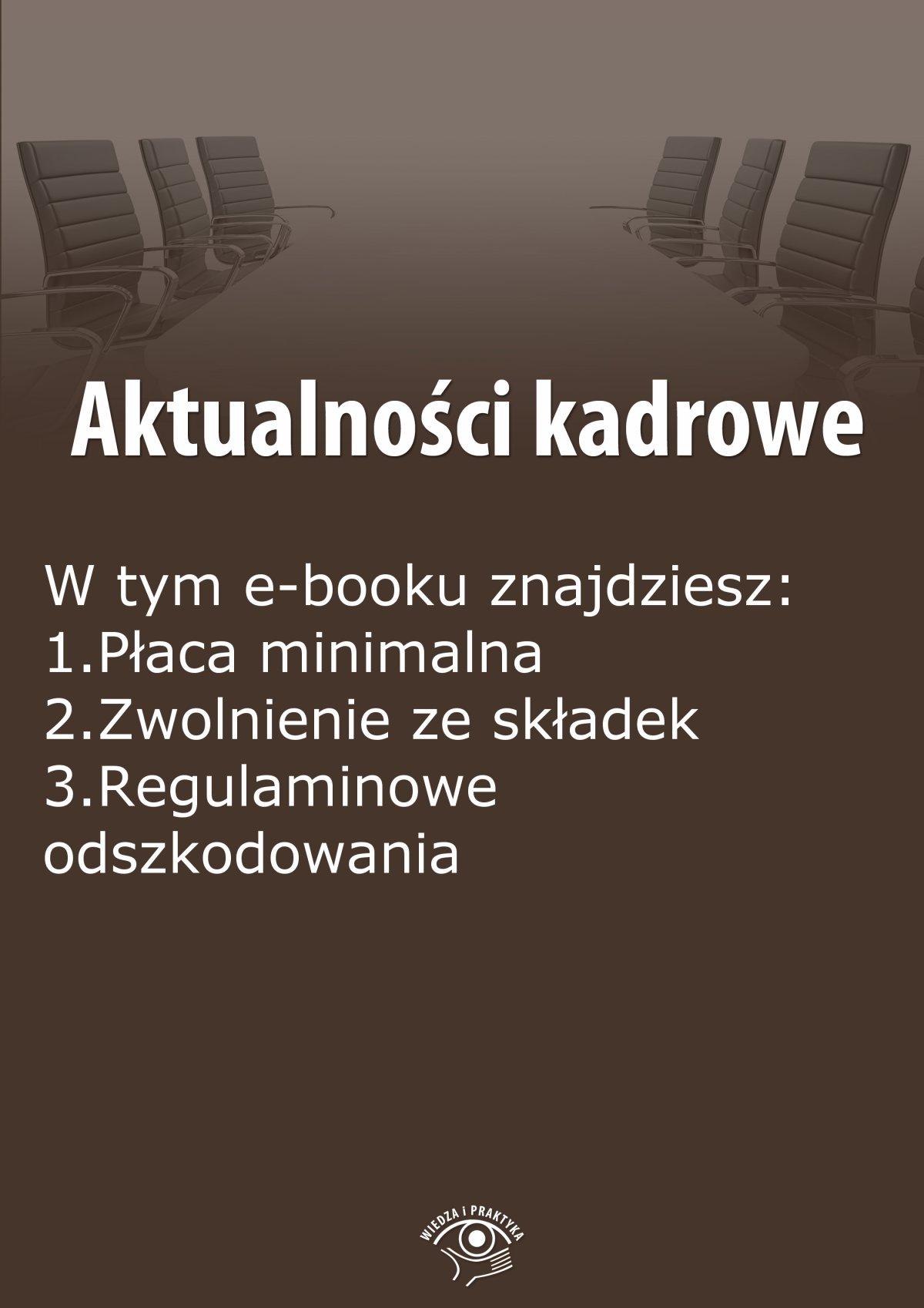 Aktualności kadrowe, wydanie listopad 2014 r. - Ebook (Książka EPUB) do pobrania w formacie EPUB
