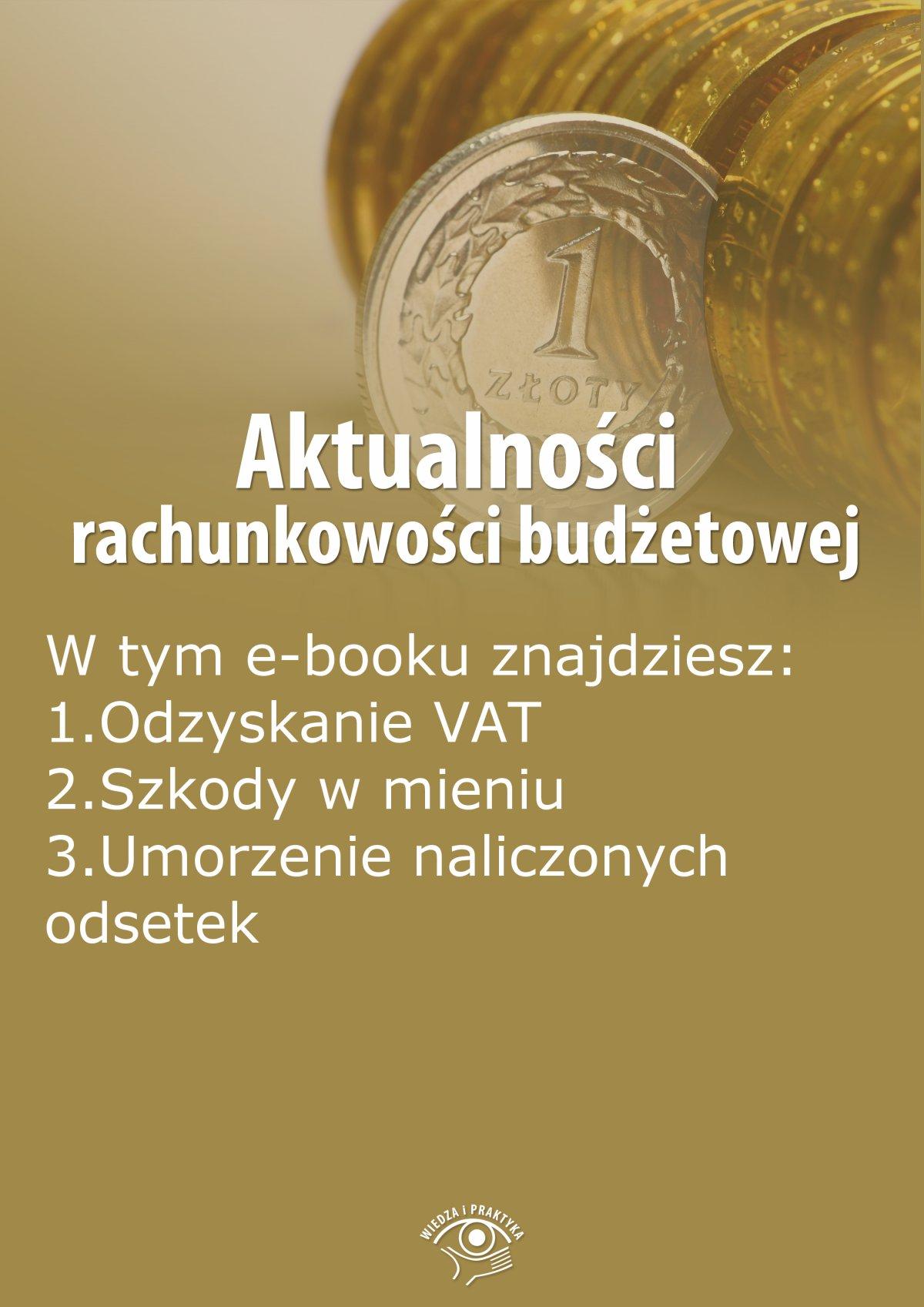Aktualności rachunkowości budżetowej, wydanie sierpień 2014 r. - Ebook (Książka EPUB) do pobrania w formacie EPUB