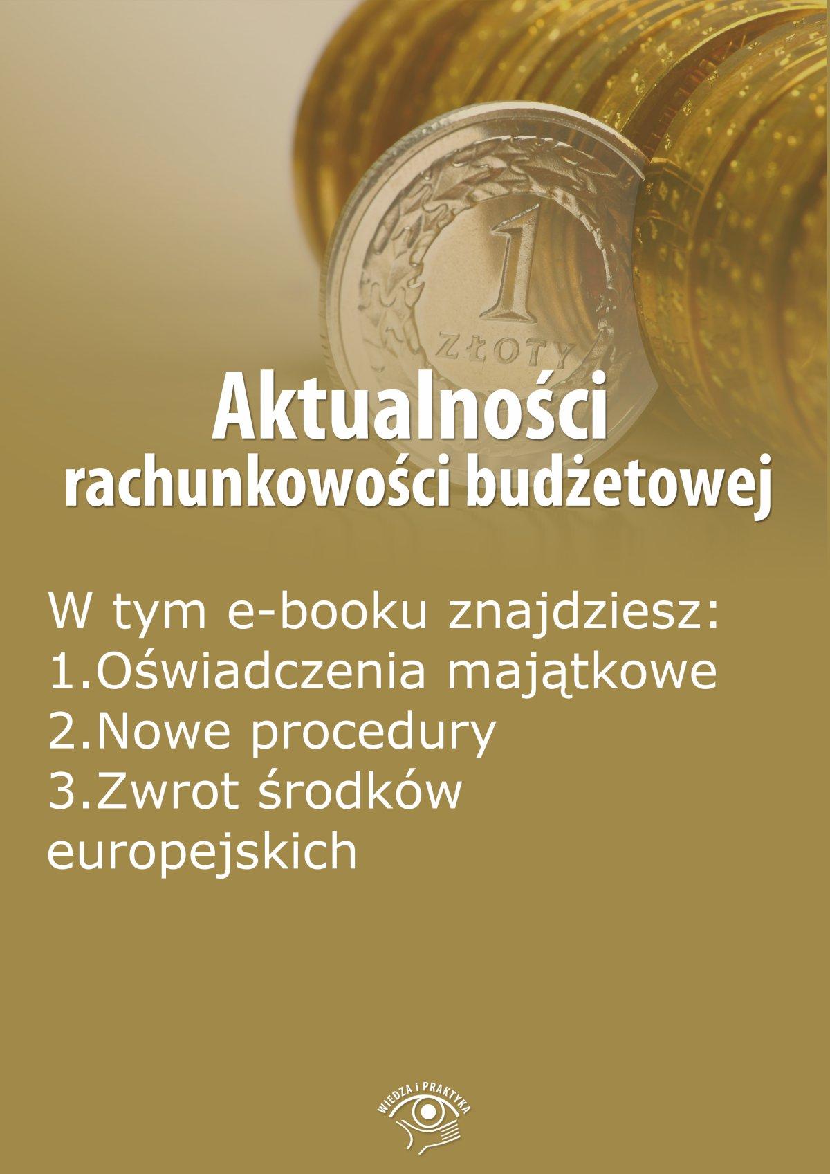 Aktualności rachunkowości budżetowej, wydanie październik 2014 r. - Ebook (Książka EPUB) do pobrania w formacie EPUB