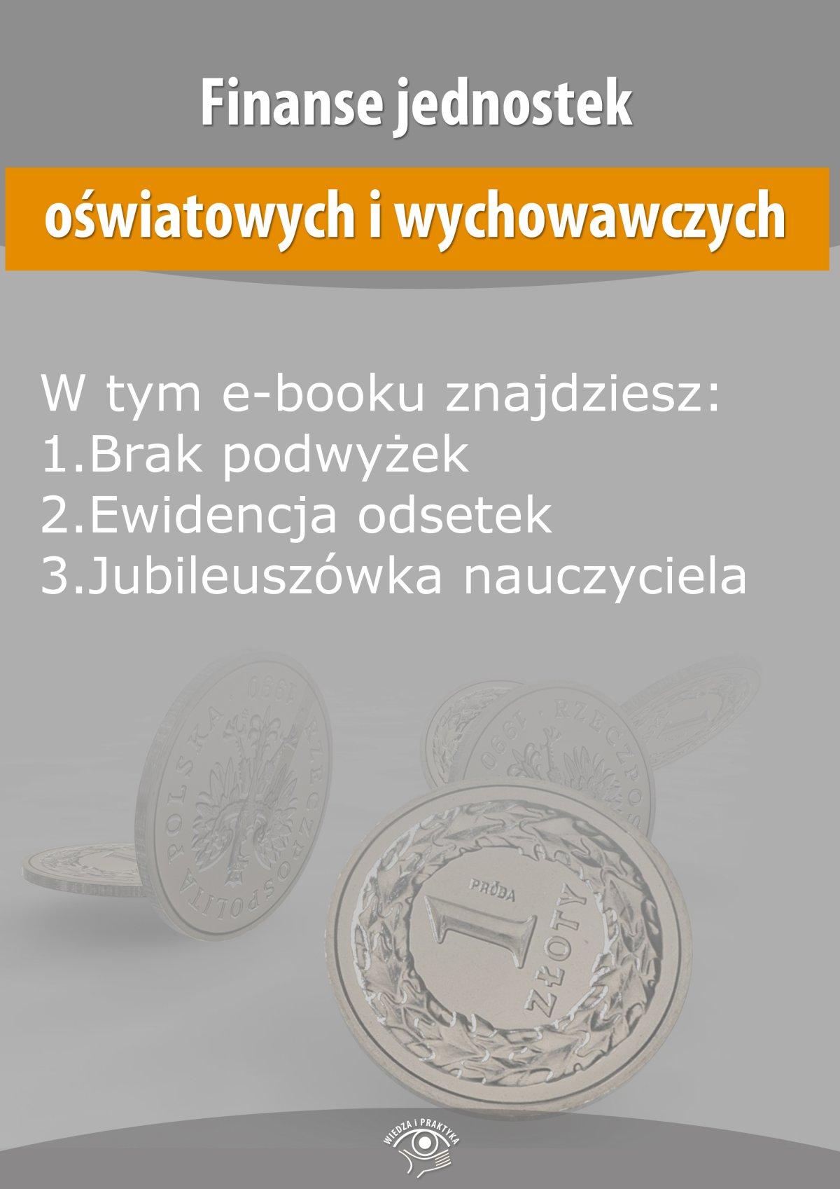 Finanse jednostek oświatowych i wychowawczych, wydanie wrzesień 2014 r. - Ebook (Książka EPUB) do pobrania w formacie EPUB