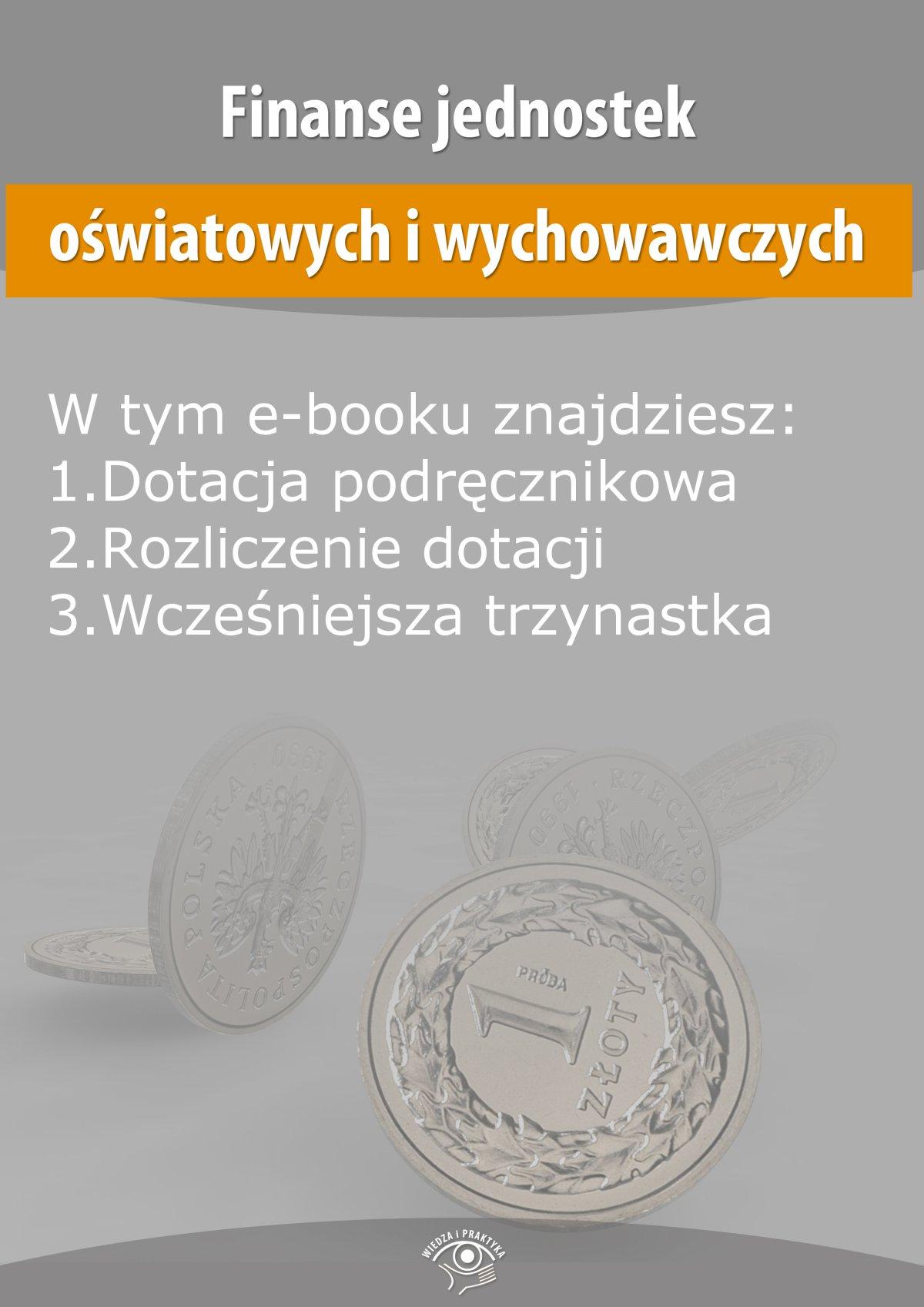 Finanse jednostek oświatowych i wychowawczych, wydanie listopad 2014 r. - Ebook (Książka EPUB) do pobrania w formacie EPUB