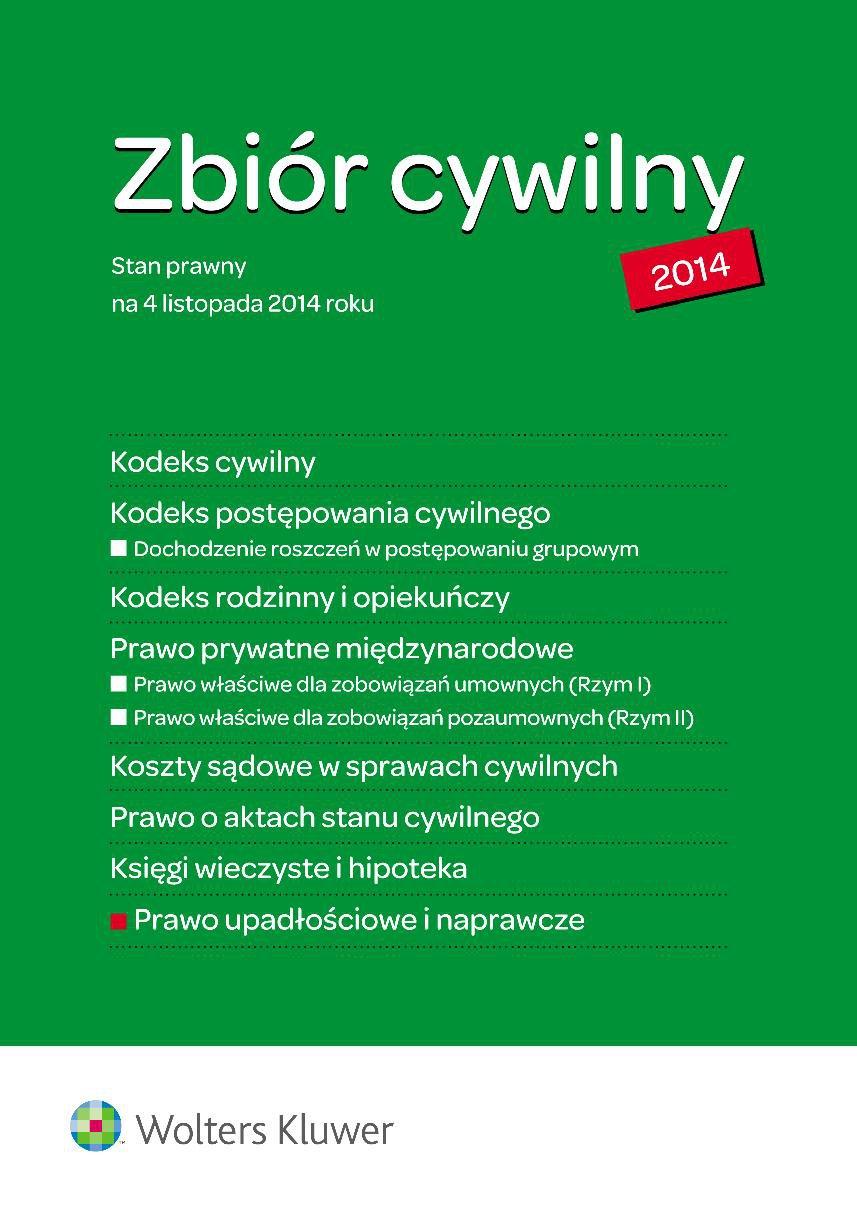 Zbiór cywilny i Prawo upadłościowe i naprawcze - Ebook (Książka EPUB) do pobrania w formacie EPUB