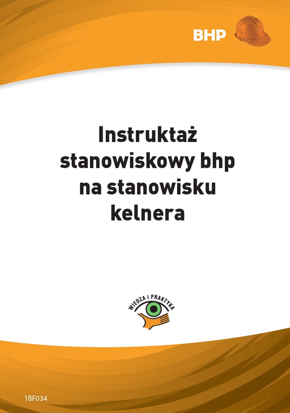 Instruktaż stanowiskowy bhp na stanowisku kelnera - Ebook (Książka PDF) do pobrania w formacie PDF