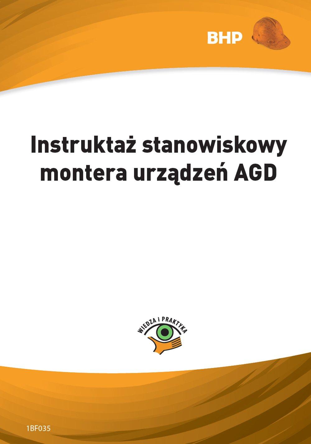 Instruktaż stanowiskowy montera urządzeń AGD - Ebook (Książka PDF) do pobrania w formacie PDF