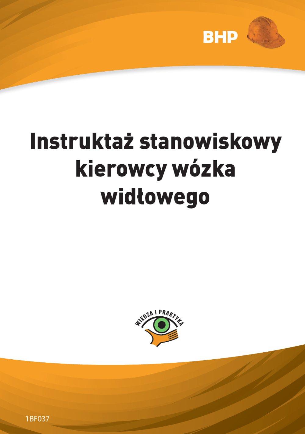 Instruktaż stanowiskowy kierowcy wózka widłowego - Ebook (Książka PDF) do pobrania w formacie PDF