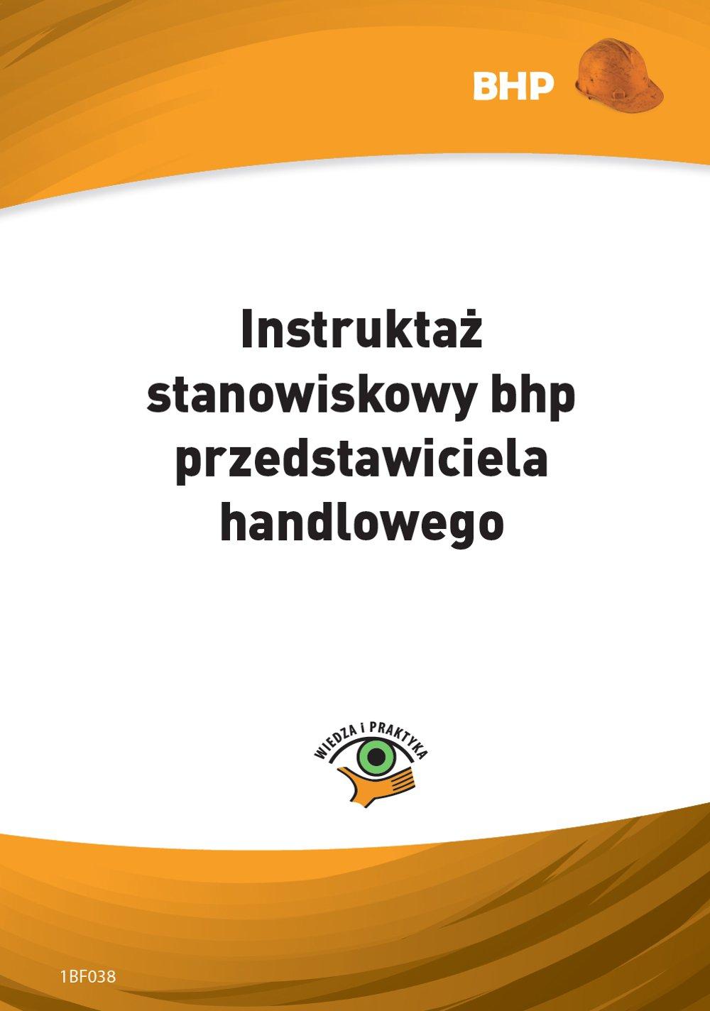 Instruktaż stanowiskowy bhp przedstawiciela handlowego - Ebook (Książka PDF) do pobrania w formacie PDF