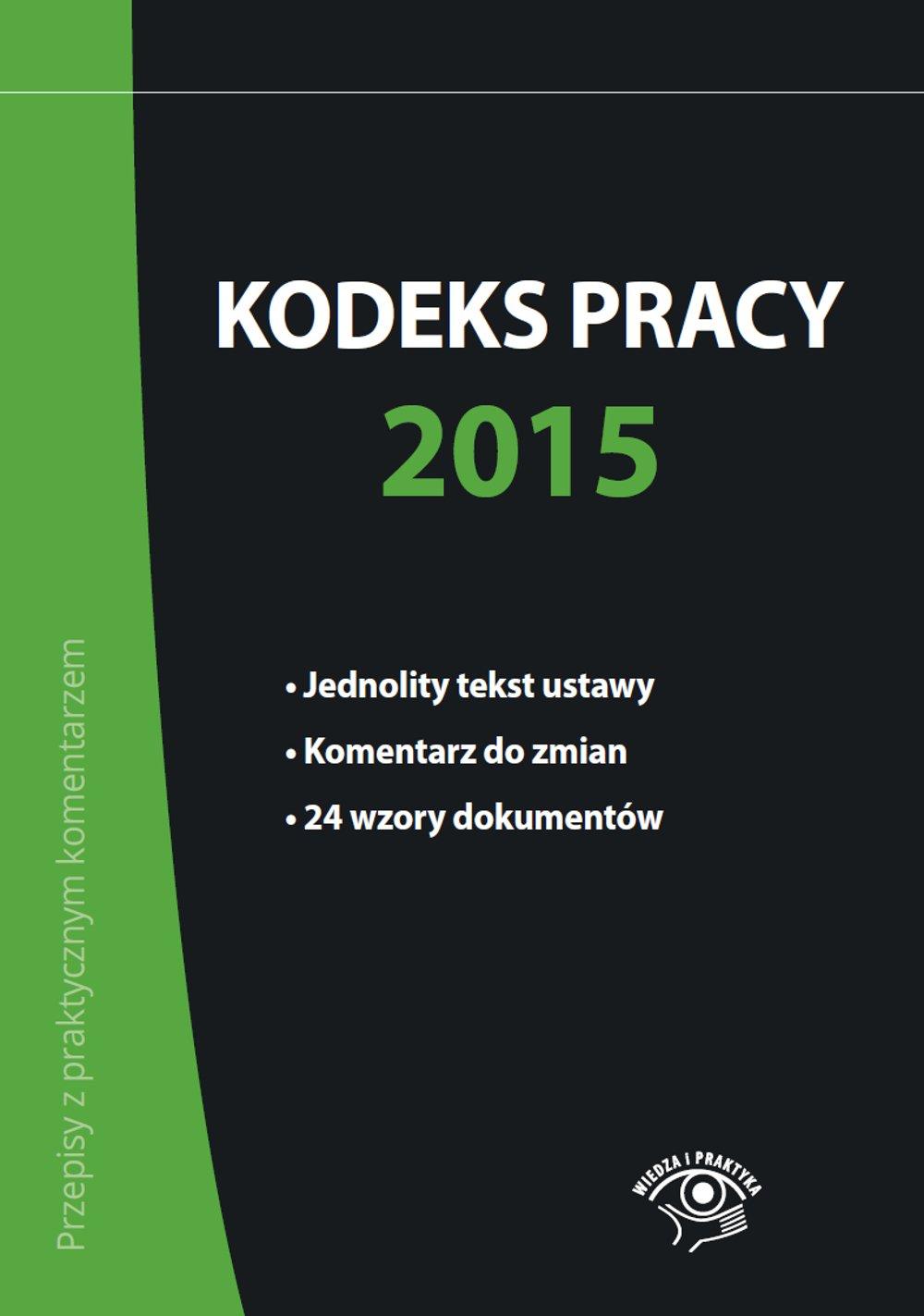 Kodeks pracy 2015 - Ebook (Książka PDF) do pobrania w formacie PDF