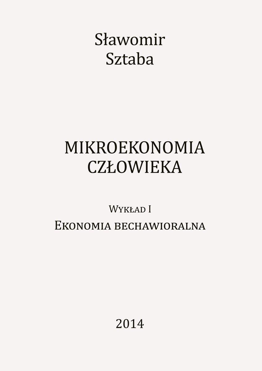 Mikroekonomia człowieka - Ebook (Książka EPUB) do pobrania w formacie EPUB