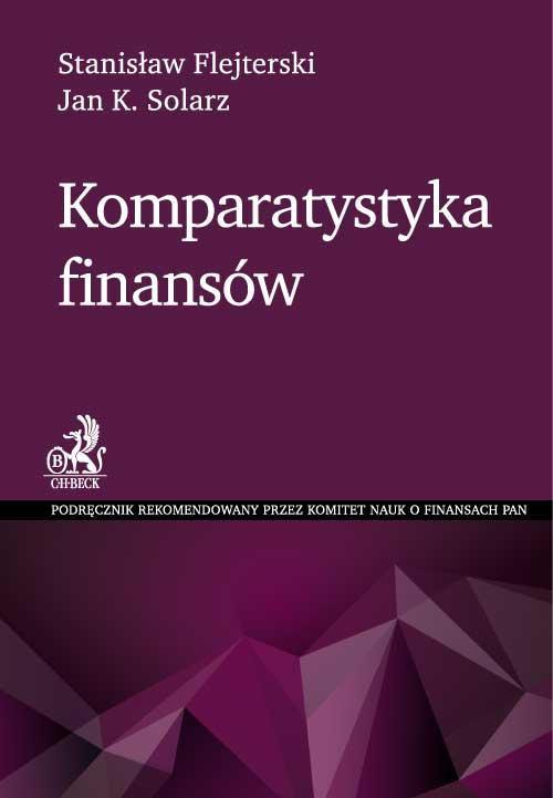 Komparatystyka finansów - Ebook (Książka PDF) do pobrania w formacie PDF