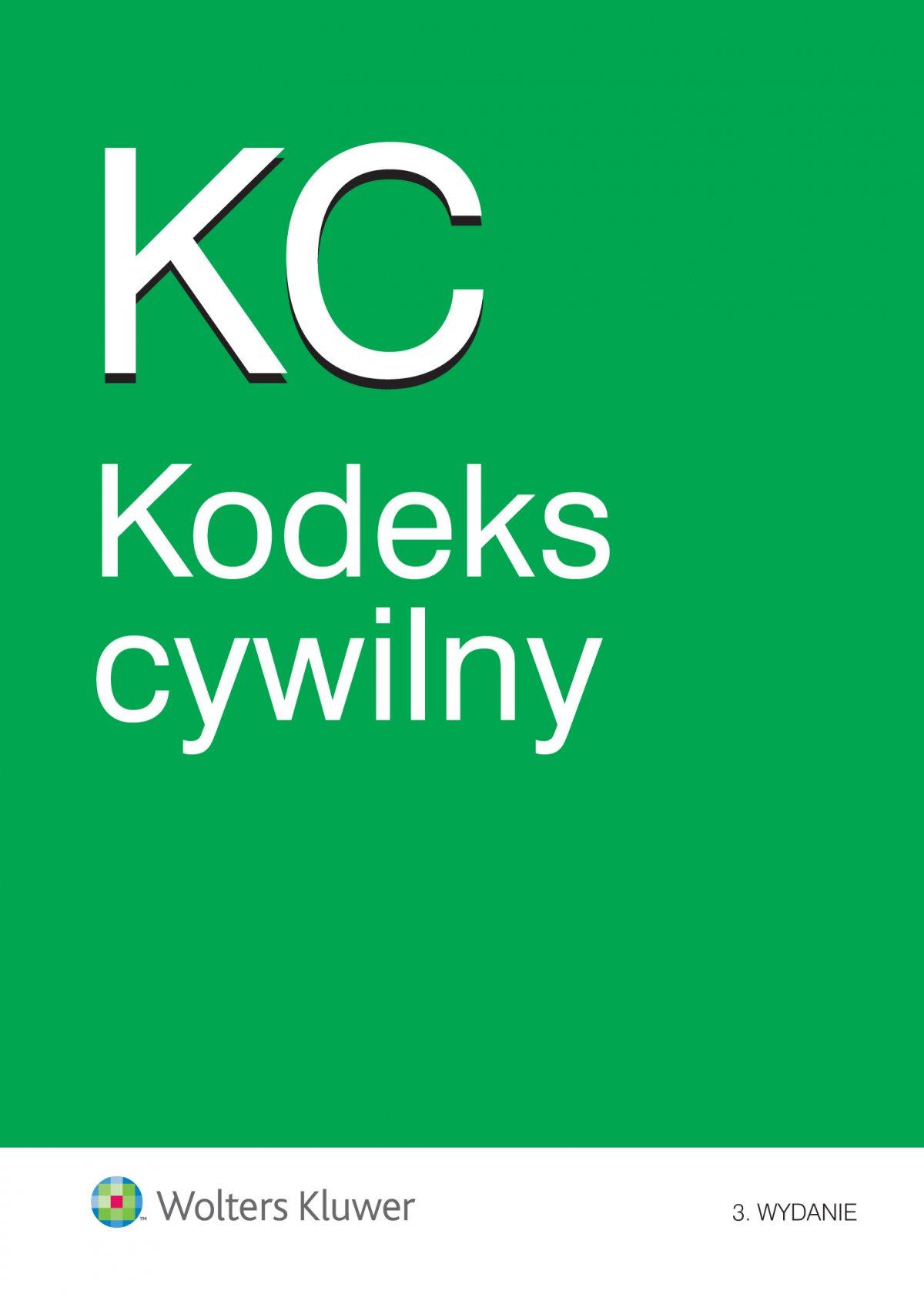 Kodeks cywilny. Wydanie 3 - Ebook (Książka EPUB) do pobrania w formacie EPUB
