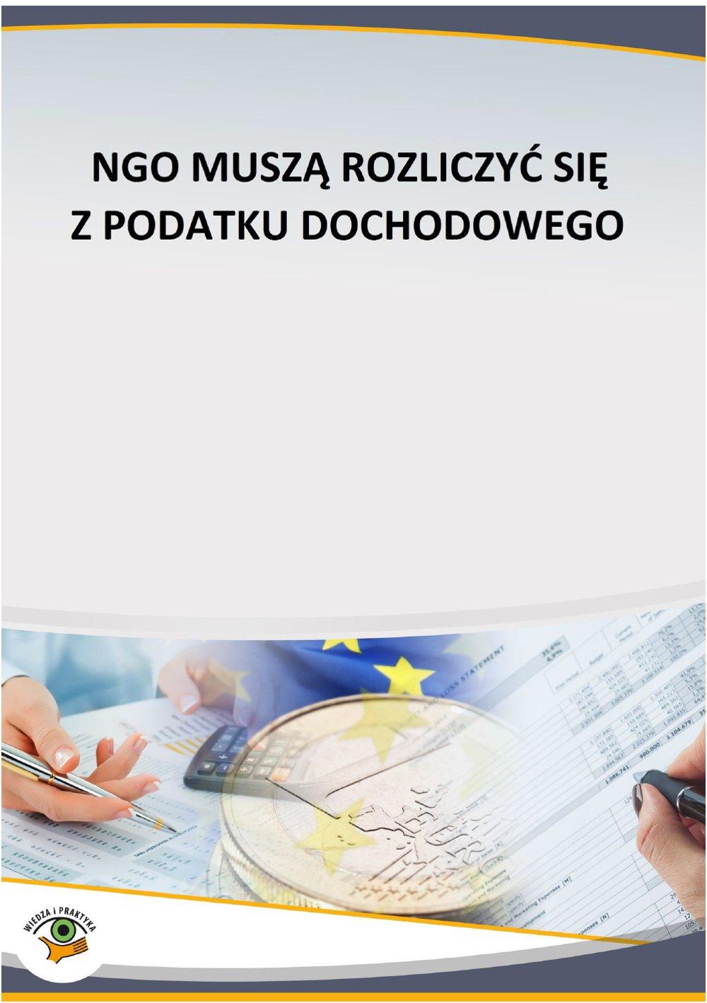 NGO muszą rozliczyć się z podatku dochodowego - Ebook (Książka PDF) do pobrania w formacie PDF