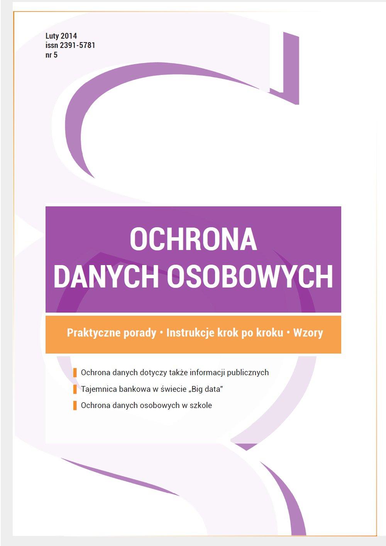 Ochrona danych osobowych - wydanie luty 2015 r. - Ebook (Książka PDF) do pobrania w formacie PDF