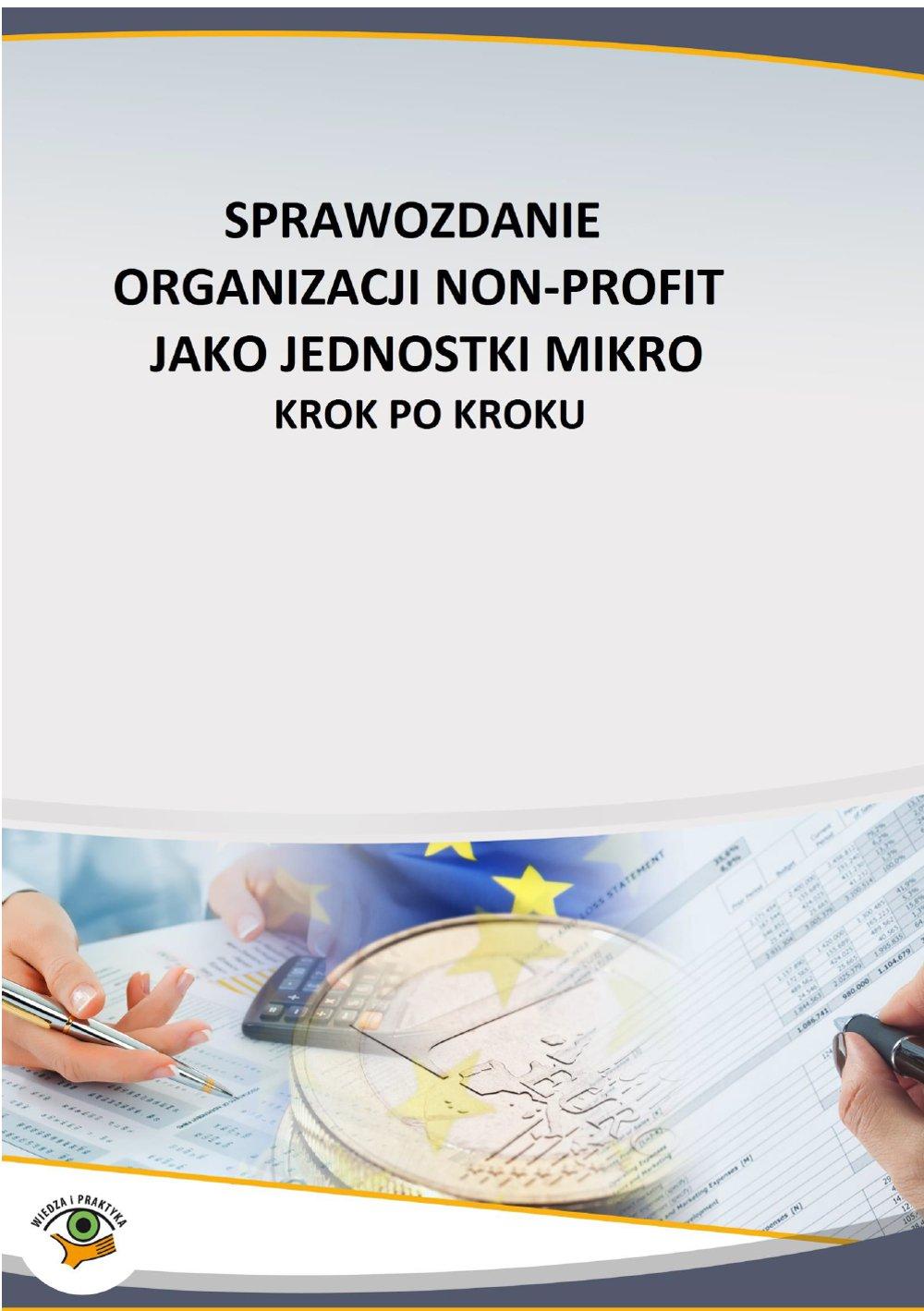 Sprawozdanie organizacji non profit jako jednostki mikro – krok po kroku - Ebook (Książka PDF) do pobrania w formacie PDF