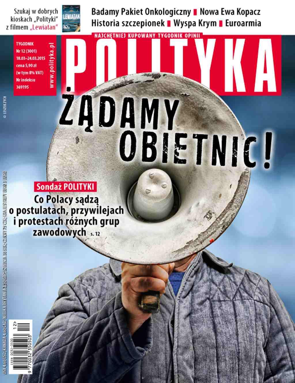 Polityka nr 12/2015 - Ebook (Książka PDF) do pobrania w formacie PDF