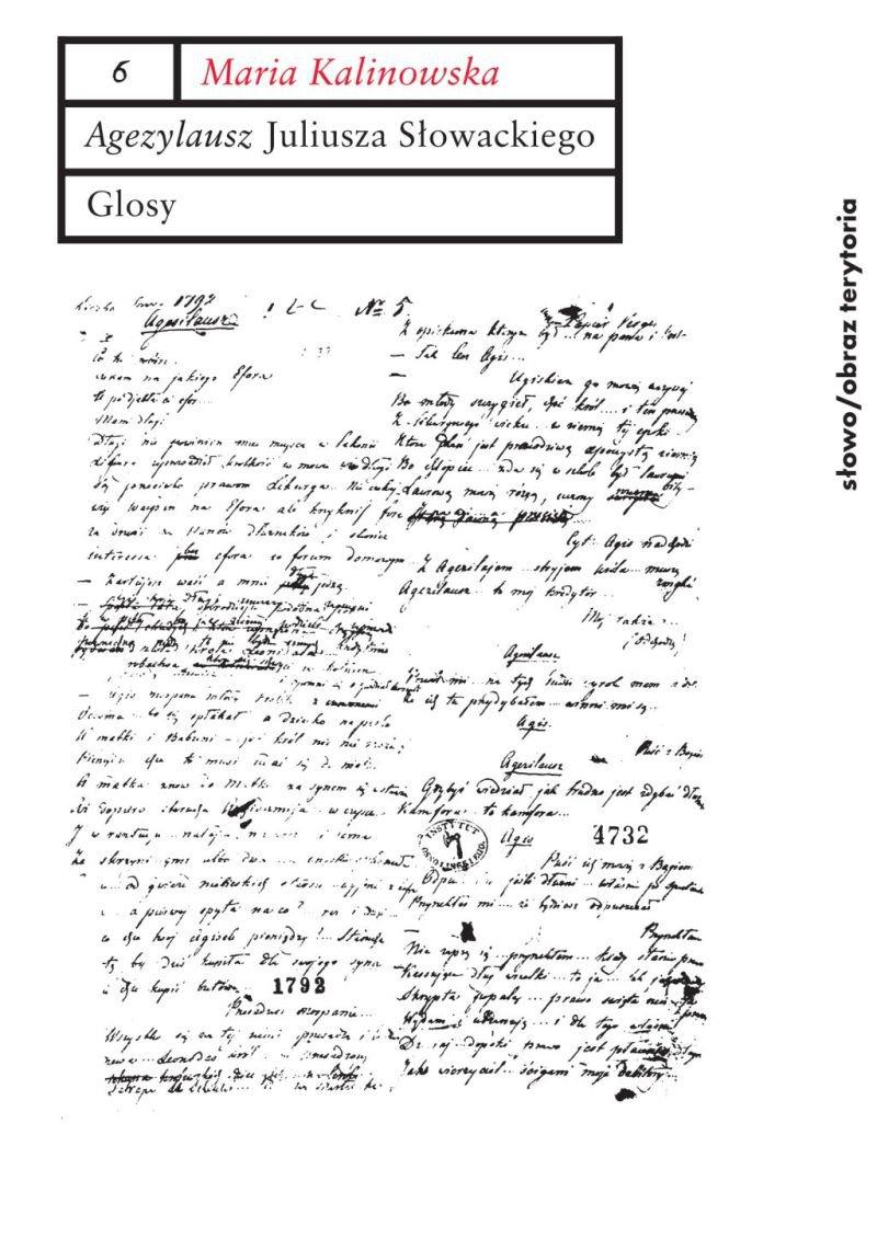Agezylausz Juliusza Słowackiego. Glosy - Ebook (Książka na Kindle) do pobrania w formacie MOBI