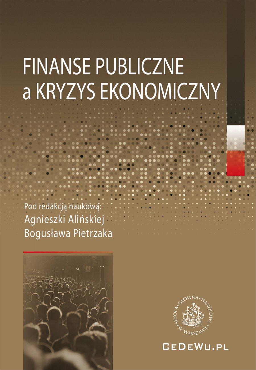 Finanse publiczne a kryzys ekonomiczny - Ebook (Książka PDF) do pobrania w formacie PDF