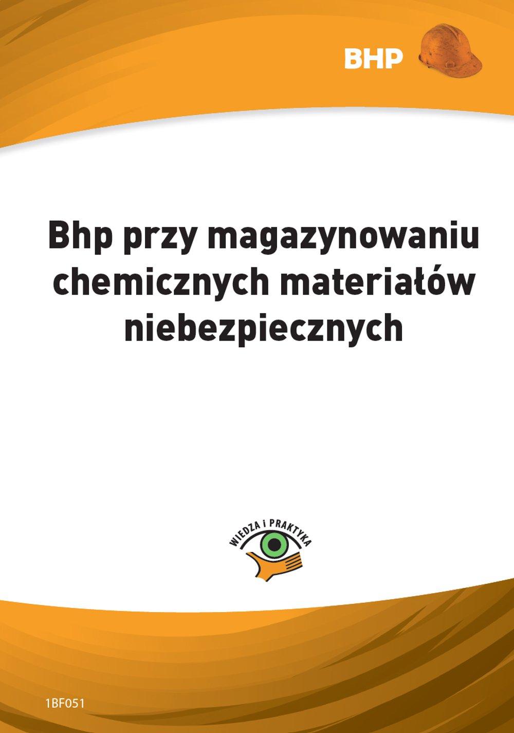Bhp przy magazynowaniu chemicznych materiałów niebezpiecznych - Ebook (Książka PDF) do pobrania w formacie PDF