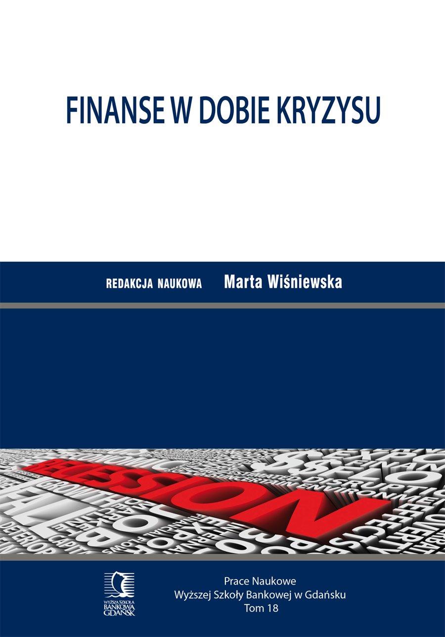 Finanse w dobie kryzysu. Tom 18 - Ebook (Książka PDF) do pobrania w formacie PDF