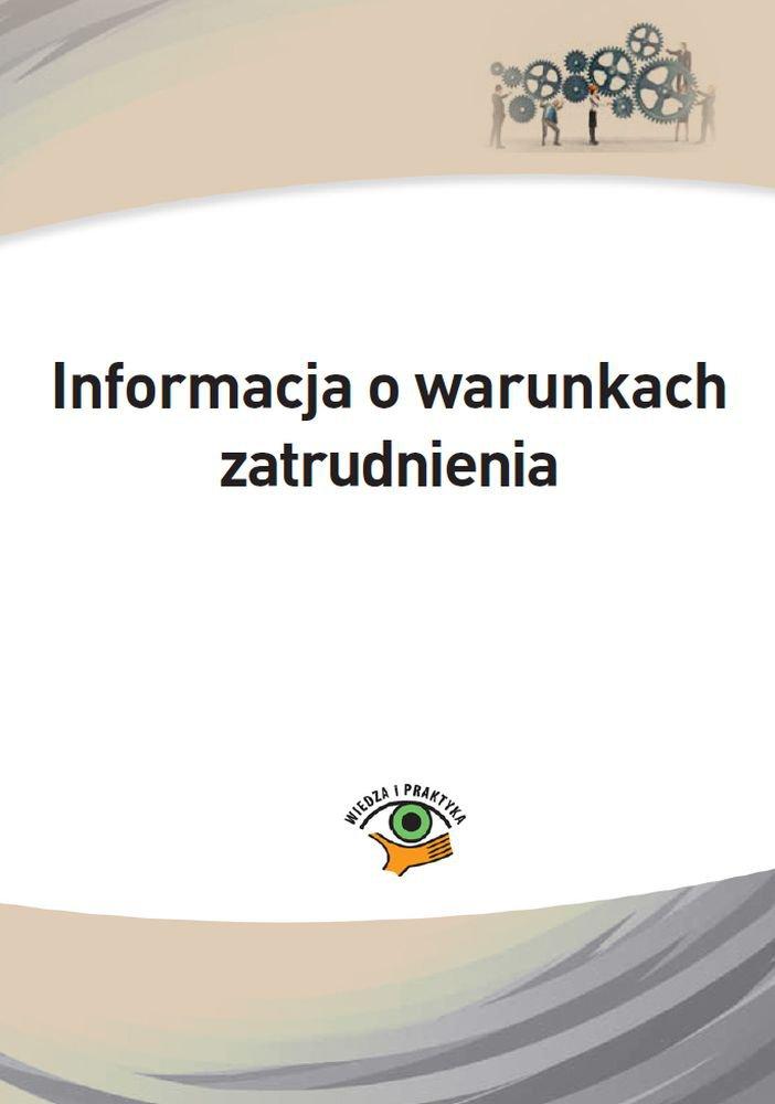 Informacja o warunkach zatrudnienia - Ebook (Książka PDF) do pobrania w formacie PDF