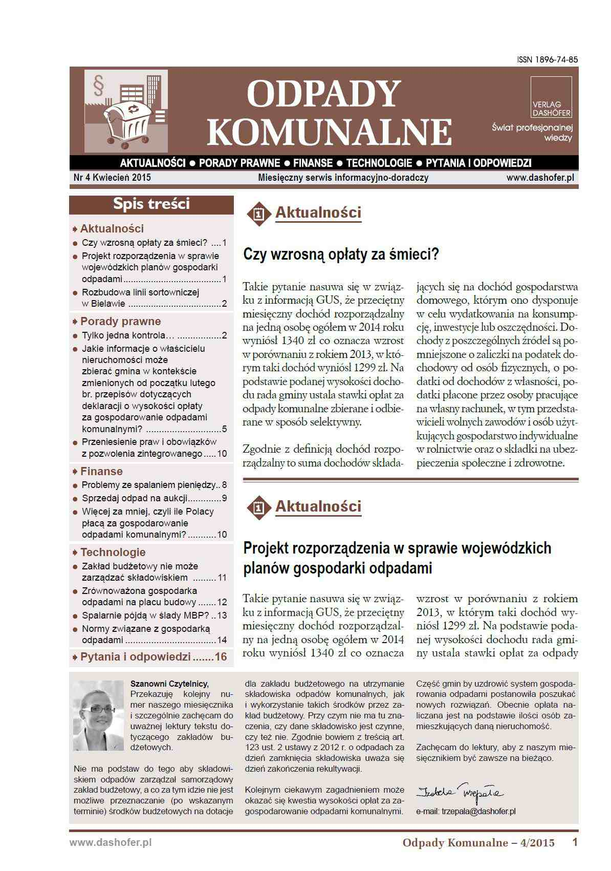 Odpady komunalne. Nr 4/2015 - Ebook (Książka PDF) do pobrania w formacie PDF